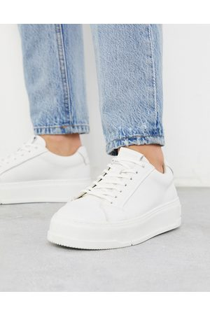 Vagabond Judy - Sneakers flatform in pelle bianche