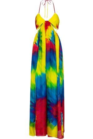 ALEXANDRE VAUTHIER Jumpsuit a stampa tie-dye in seta