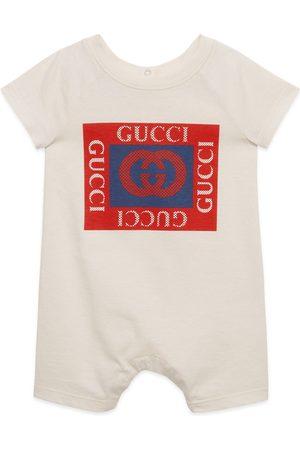 Gucci Tutina in cotone con stampa logo