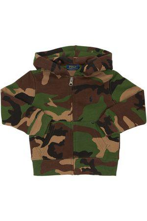 Ralph Lauren Felpa In Cotone Camouflage Con Cappuccio