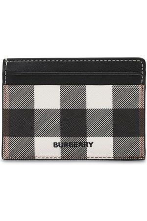 """Burberry Porta Carte Di Credito """"kier"""" In Tela Check"""