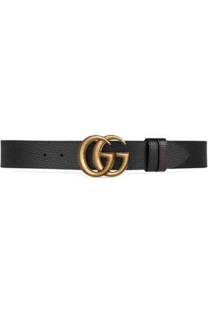 Gucci Cintura in pelle reversibile con fibbia Doppia G
