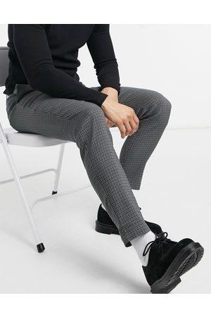 Only & Sons Pantaloni con motivo pied de poule grigi in coordinato
