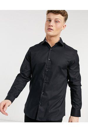 Selected Camicia elegante slim nera facile da stirare