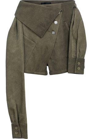 RTA Shorts a vita alta in misto cotone