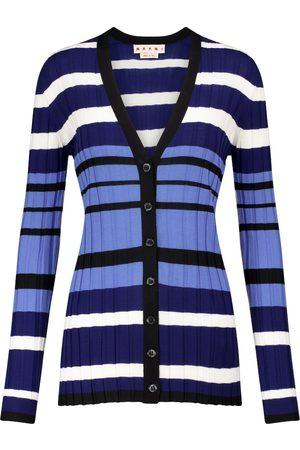 Marni Cardigan a righe in lana