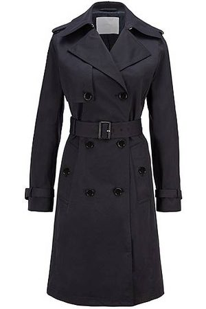 HUGO BOSS Donna Impermeabili - Trench in twill idrorepellente con cintura