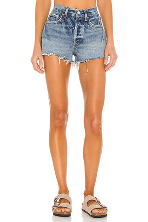 AGOLDE Donna Pantaloncini - Parker Short in - Blue. Size 23 (also in 24, 25, 26, 27, 28, 29, 30, 31, 32, 33, 34).