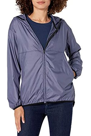 Amazon Full-Zip Packable Windbreaker Fashion-Sweatshirts, Dusty Blue, US