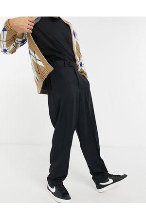 ASOS Pantaloni slim eleganti a vita alta neri