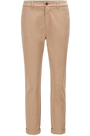 HUGO BOSS Chino regular fit in cotone elasticizzato biologico