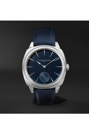 Laurent Ferrier Uomo Orologi - Square Automatic 41mm Stainless Steel and Leather Watch, Ref. No. LCF013.AC.CG2.1