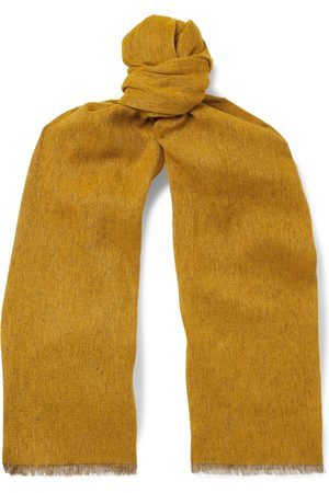 Loro Piana Uomo Sciarpe - Fringed Mélange Baby Cashmere and Linen-Blend Scarf