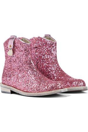 MONNALISA Stivali in pelle con glitter
