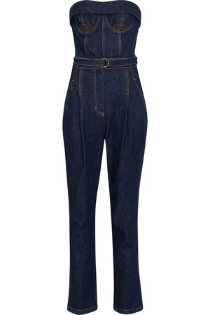 Serafini Jumpsuit di jeans con cintura