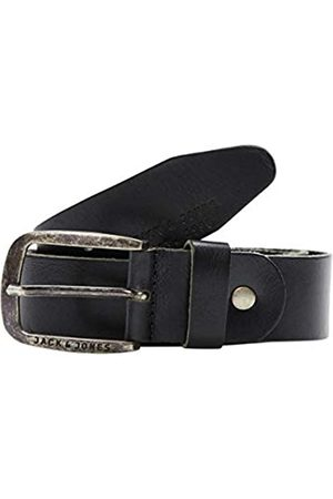 Jack & Jones JJIPAUL JJLEATHER BELT NOOS, Cintura Uomo, Nero , 90 cm