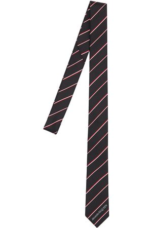 Alexander McQueen Cravatta In Seta Con Logo 50mm