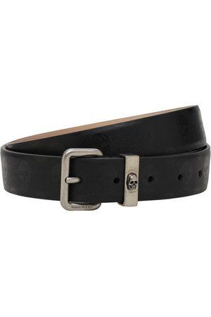 Alexander McQueen Uomo Cinture - Cintura In Pelle 30mm