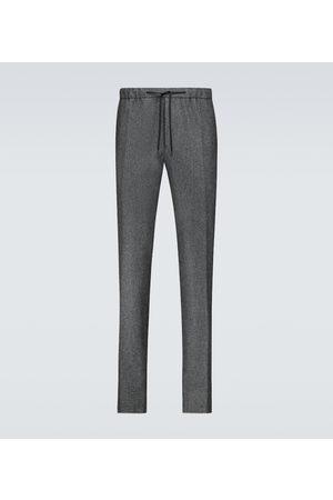 Fendi Pantaloni in flanella di lana