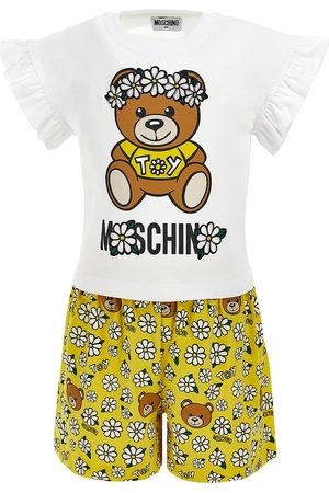 Moschino T-shirt E Shorts In Jersey Con Stampa