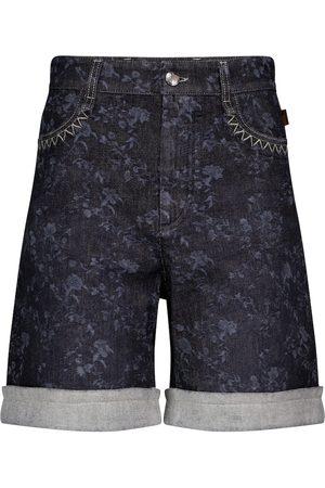 Chloé Bermuda di jeans a vita alta
