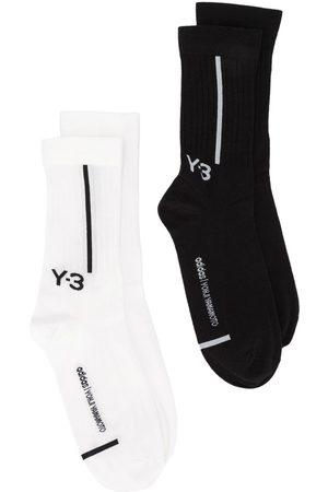 Y-3 Uomo Calze - Confezione due paia con logo - BLACK/CWHITE
