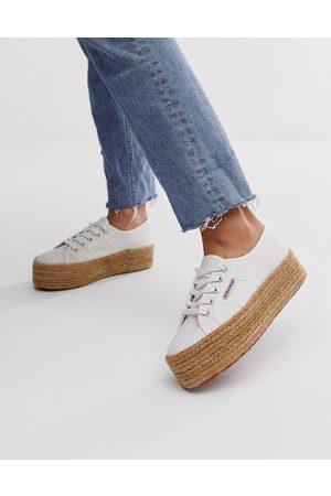 Superga Donna Trainers - 2790 Cotrope - Sneakers in tela bianca flatform stile espadrilles