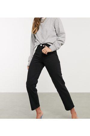 ASOS Jeans dritti vita alta stretch slim neri