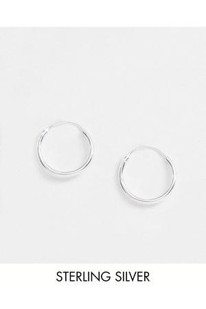 ASOS Orecchini a cerchio da 12mm in sterling