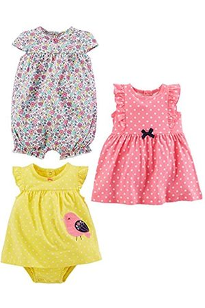 Simple Joys by Carter's Pagliaccetto - Bebè femminuccia multicolore Pink Dot/Floral/Yellow Bird 6-9 Months