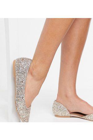ASOS Donna Ballerine - Virtue - Ballerine pianta larga D'Orsay a punta con glitter