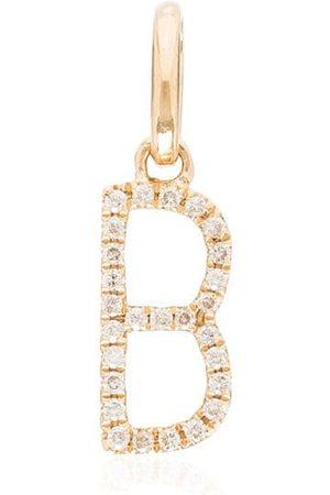 ROSA DE LA CRUZ Ciondolo a forma di B in 18kt e diamanti - YELLOW GOLD