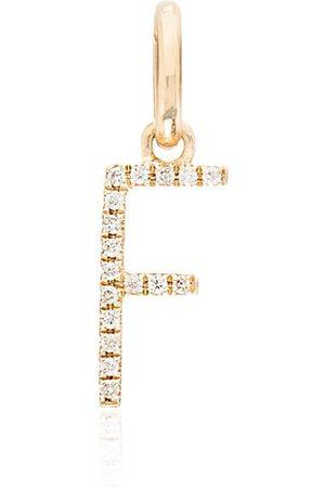 ROSA DE LA CRUZ Ciondolo F in 18kt con diamanti - YELLOW GOLD