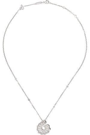 Chopard Donna Collane - Collana con pendente in oro bianco 18kt e diamanti