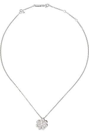 Chopard Collana con pendente a fiore in oro bianco 18kt e diamanti