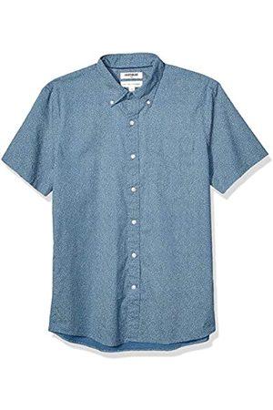 Goodthreads Standard-Fit Short-Sleeve Printed Poplin Shirt Camicia Che Si abbottona, Denim Blue Floral, XXXL Tall