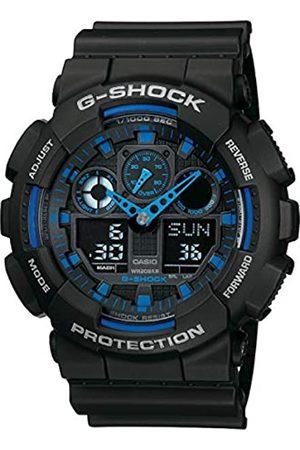 Casio G-SHOCK Orologio 20 BAR, Azzurro/Nero, Analogico - Digitale, Uomo, GA-100-1A2ER