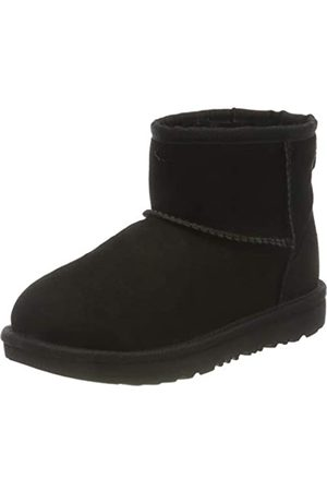 UGG Kid's Female Classic Mini II Classic Boot, Black, 2