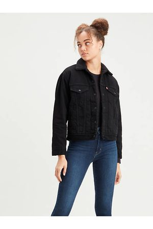 Levi's Ex Boyfriend Sherpa Trucker Jacket / Yes Black
