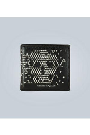 Alexander McQueen Portafoglio Skull in pelle con borchie