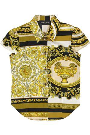 VERSACE Camicia a stampa Barocco Mosaic in cotone