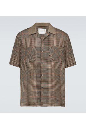 SACAI Camicia Glencheck Mix