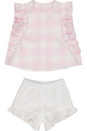 Il gufo Baby - Top e culottes in lino