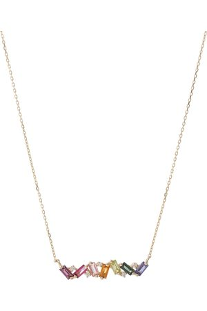 Suzanne Kalan Collana Frenesia Rainbow in oro 18kt con diamanti