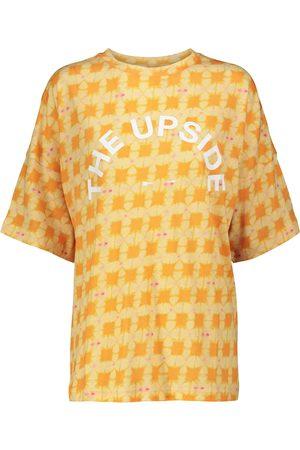 The Upside T-shirt Carla a stampa in cotone e lino