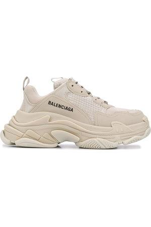 BALENCIAGA Donna Sneakers - Sneakers chunky Triple S - Toni neutri