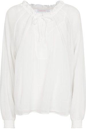 Chloé Blusa in cotone e seta