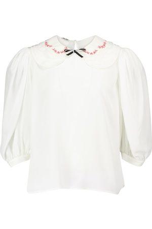 Miu Miu Blusa in seta crêpe de chine