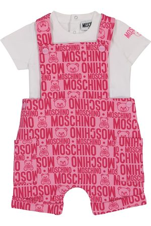 Moschino Baby - T-shirt e salopette in cotone stretch