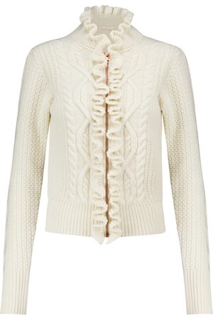 Chloé Cardigan in lana con ruches